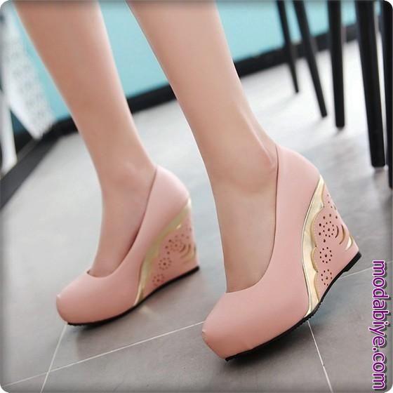 Wedge kalın topuk ayakkabı modelleri