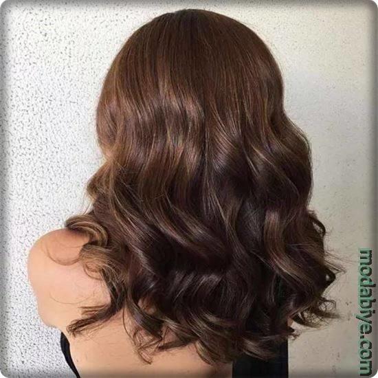 Kahverengi kumral saç modelleri