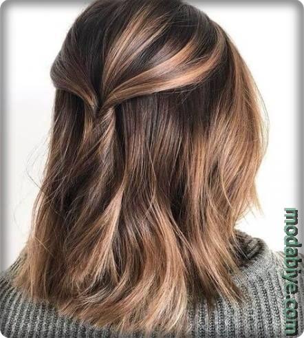 Kahverengi ombre saç