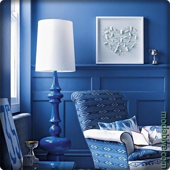 Kobalt mavisi ile dekorasyon fikirleri