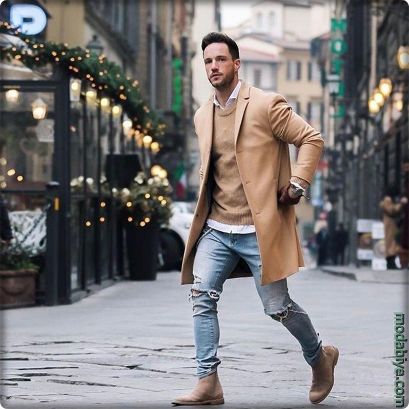 Sokak stili erkek palto tercihleri