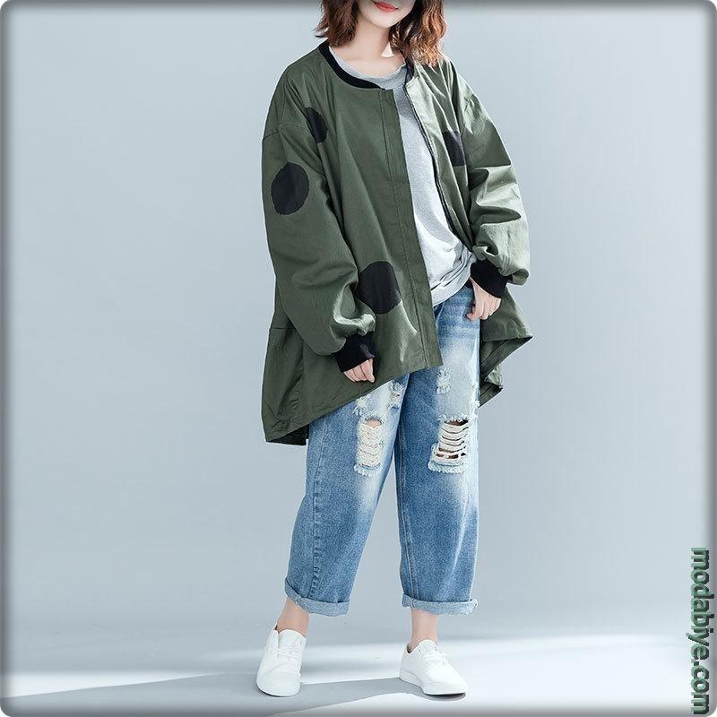 Haki oversize ceketler