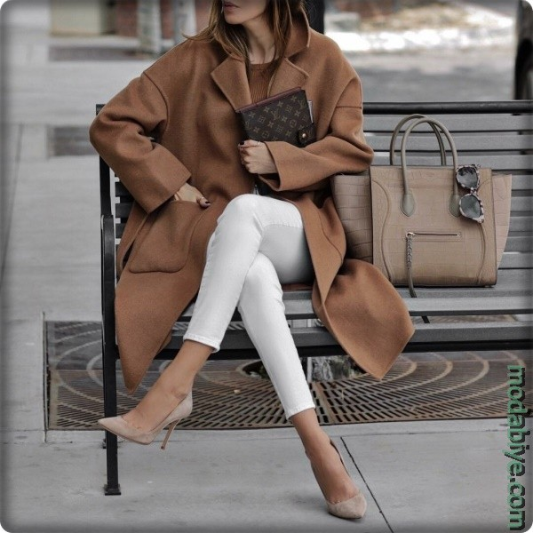 Uzun Kahverengi Oversize Ceket