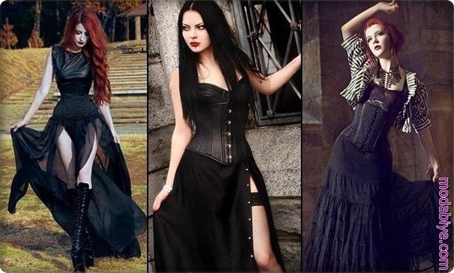 Düğün gothic elbise modelleri