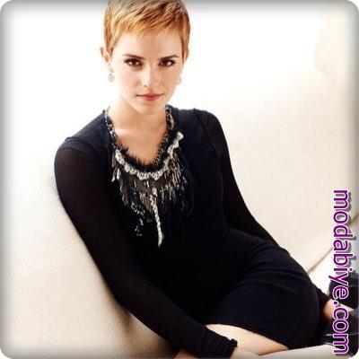 EmmaWatson Pixie Saç Modeli