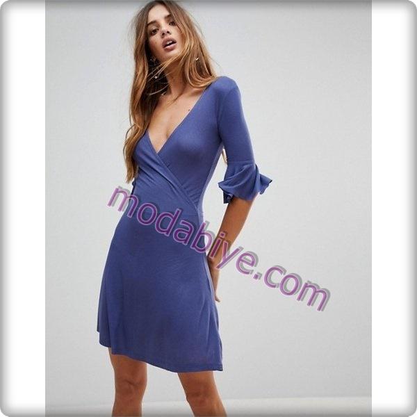 İndigo elbise modelleri