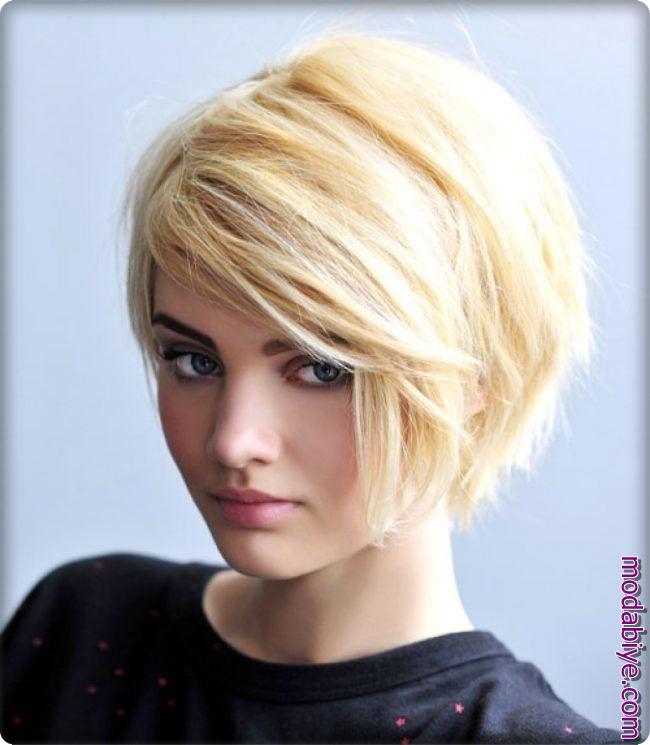 Sarı kısa saç modelleri