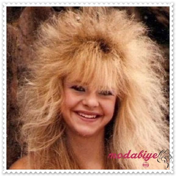 80ler dağınık saç modelleri