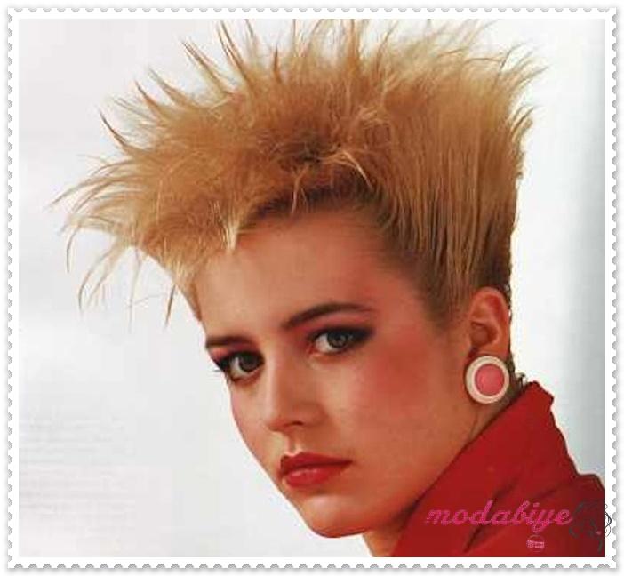 80ler kısa saç modelleri