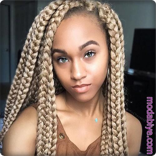 Afro amerikan örgülü saç modelleri