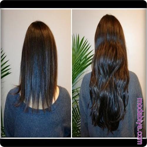 Bemiks ampul ile saç uzatma örnekleri