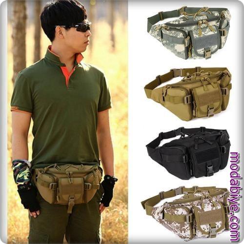 Erkek asker model bel çantaları