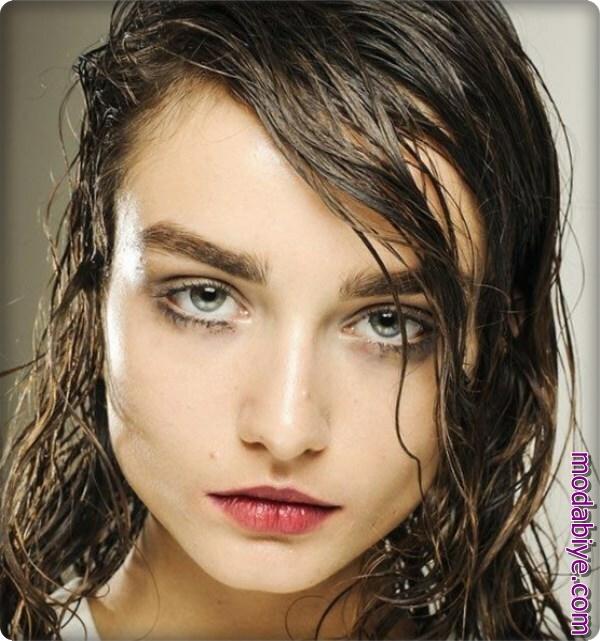 Islak görünüm saç modelleri