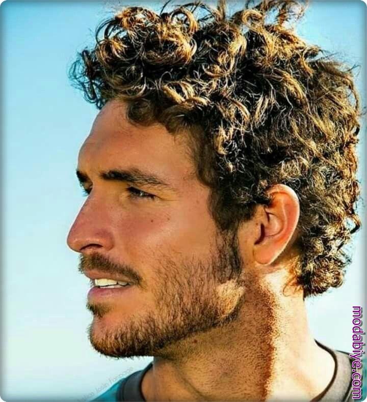 Kısa perma saç modelleri erkek
