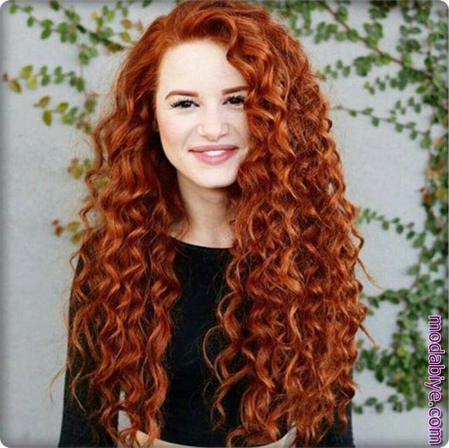 Kızıl perma saç modelleri