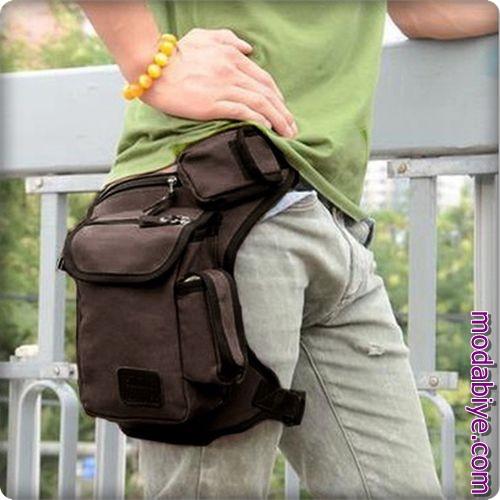 Klasik erkek bel çantası