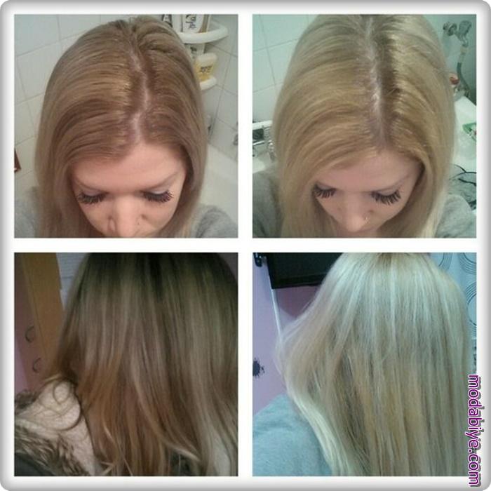 Saç boyasını akıtarak kendi rengine dönme