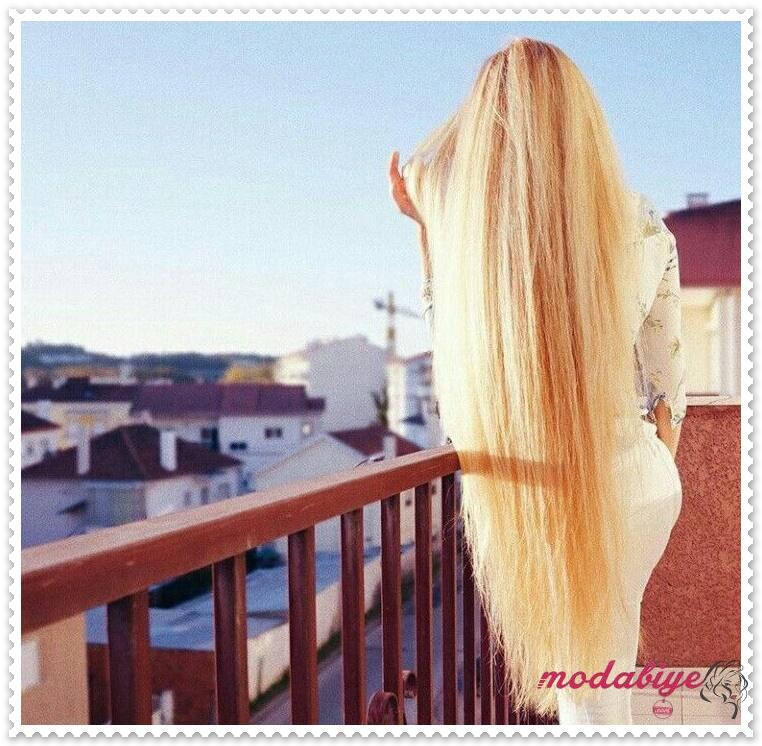 Sarı çok uzun saç stilleri