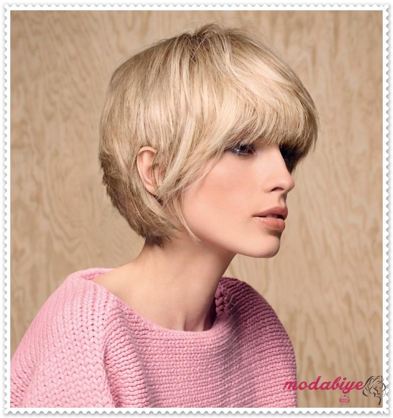 Sarı Vintage bob saç kesimi