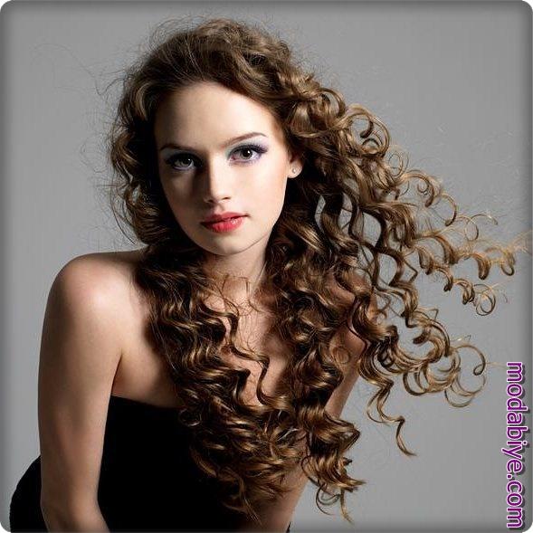Uzun saç perma modelleri