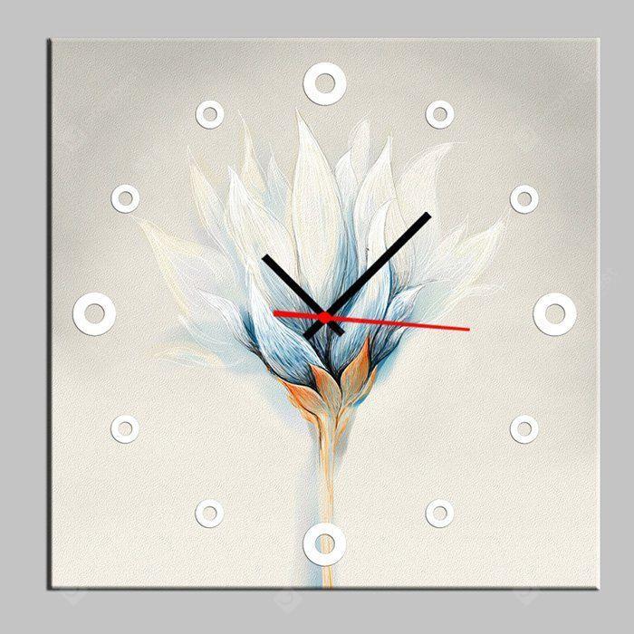 Zarif çiçek dekoratif tuval duvar saatleri