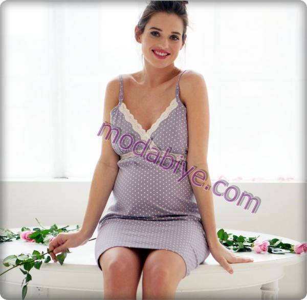 Hamileler için pauntiyelik gecelik modelleri