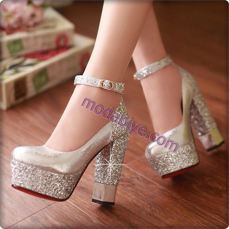 Platform topuk gelinlik ayakkabı modelleri