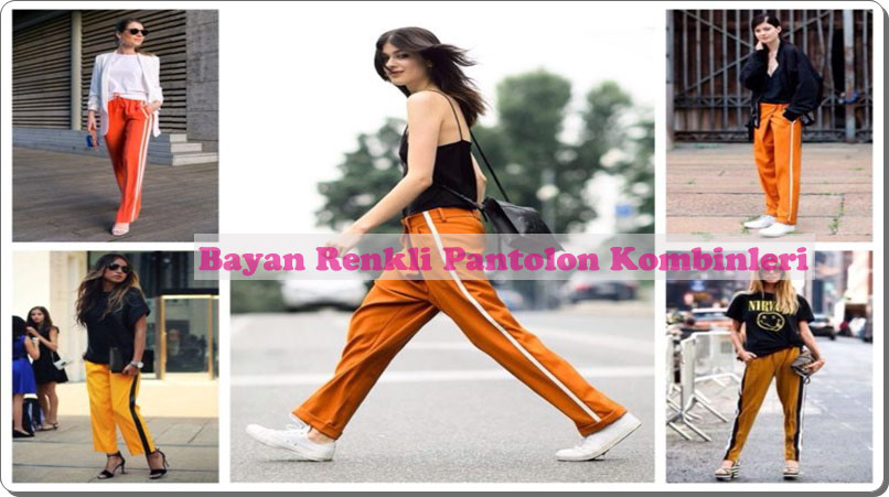 Bayan Renkli Pantolon Kombinleri