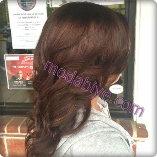 Çikolatalı kestane saç rengi