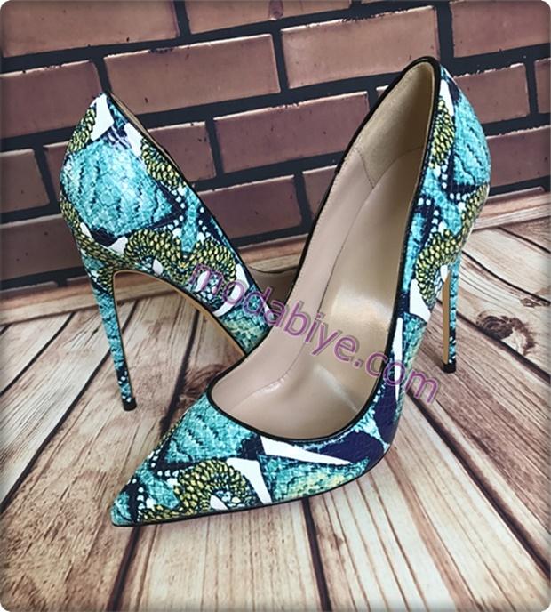 Desenli stiletto ayakkabı modelleri