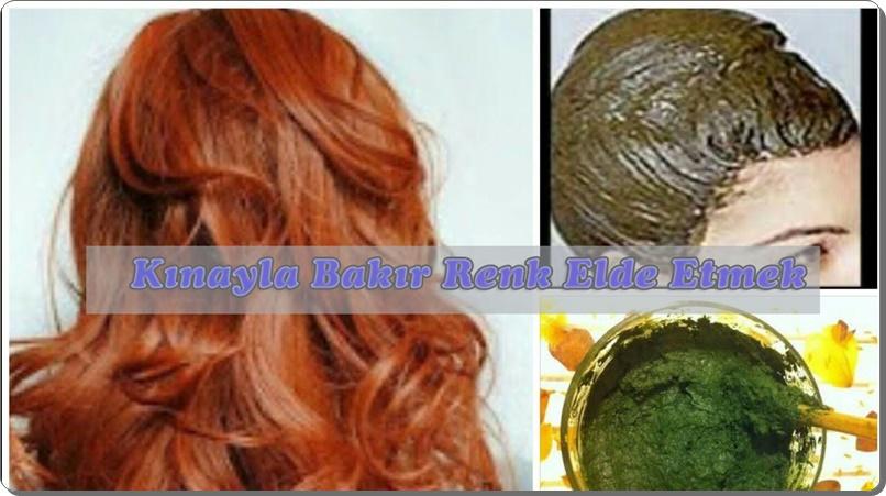 Kına ile bakır saç boyası elde etmek