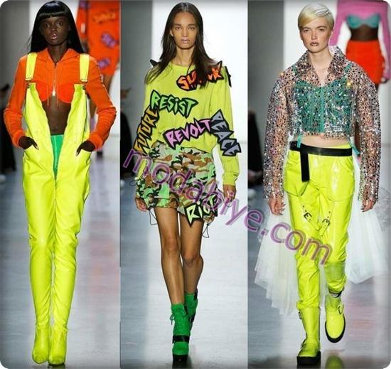 Şık Neon kıyafet kombinleri