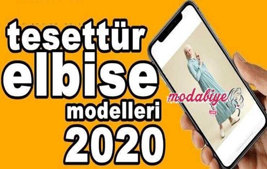 2020 Tesettür Elbise Modelleri