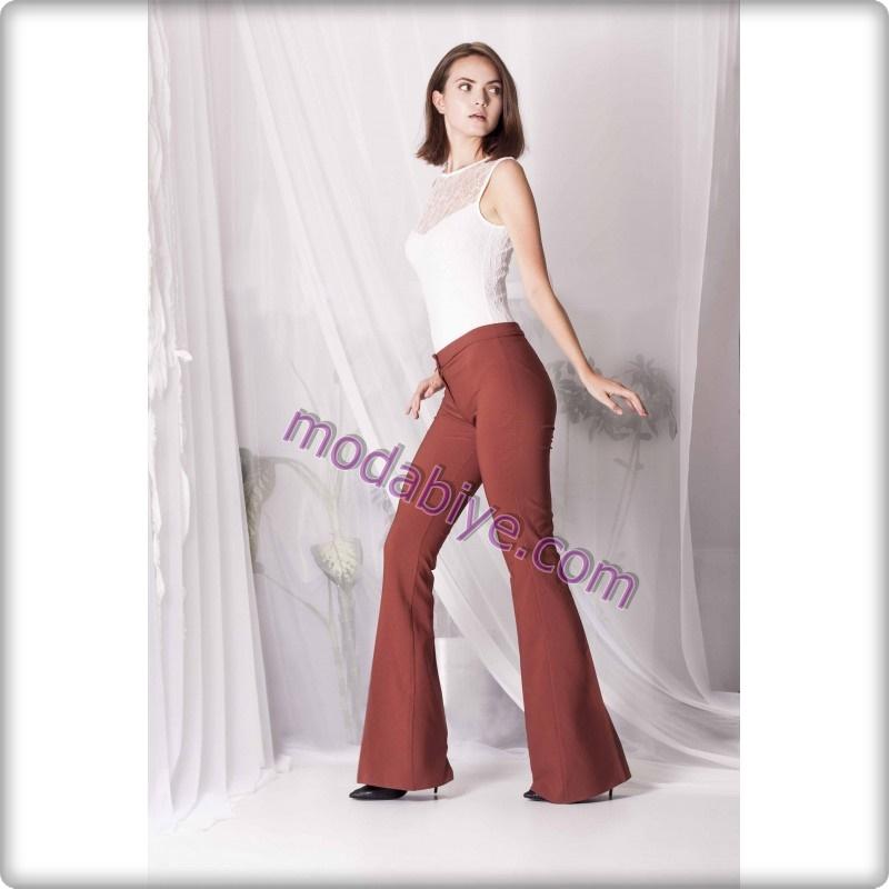 Düğün için İspanyol paça pantolon modelleri
