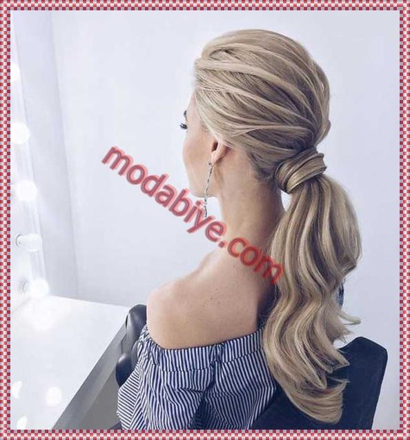 İri dalgalı toplu saç modelleri