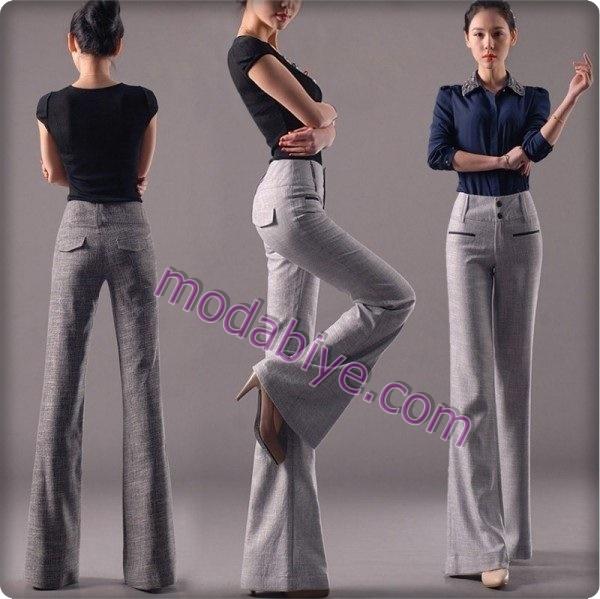 İspanyol paça pantolon kombinleri