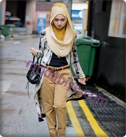 Tesettür sokak modası kombinleri
