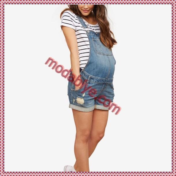 Hamile şort tulum modelleri