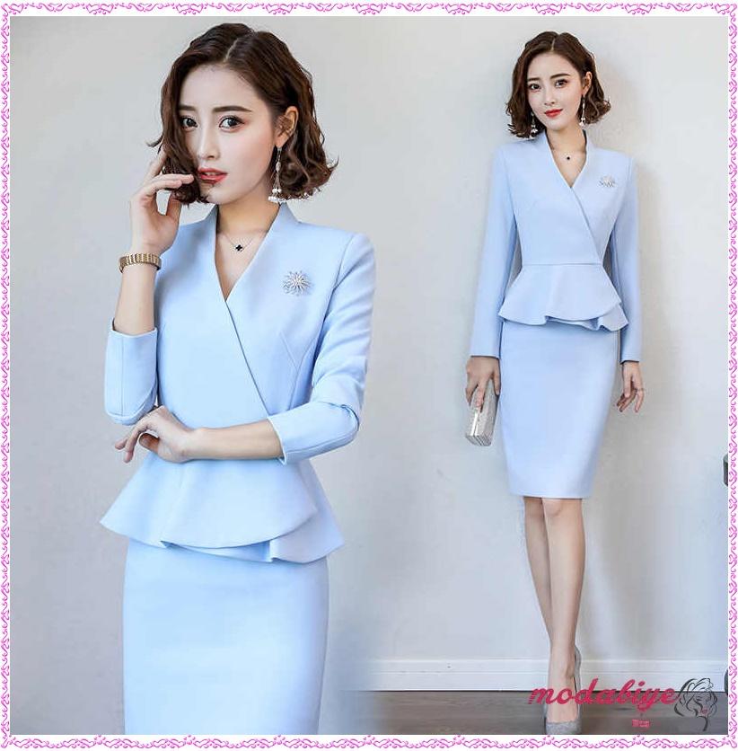 Ofiste giyilecek takım elbise kadın