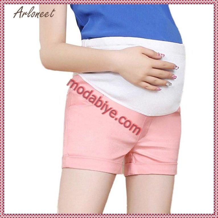 Pembe hamile şort modelleri