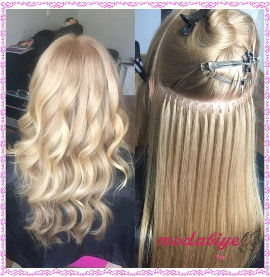 Keratin saç uzatma ve renklendirme