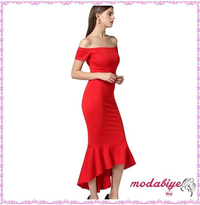 Kırmızı kız isteme elbisesi