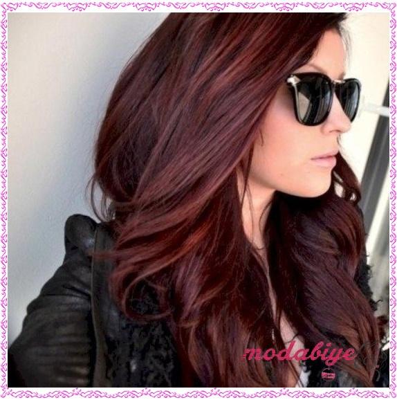 Koyu kızıl saç modelleri