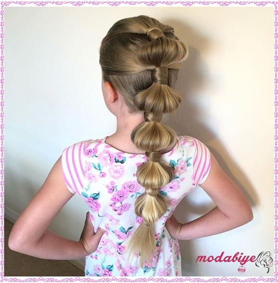 Küçük kız at kuyruğu saç modelleri