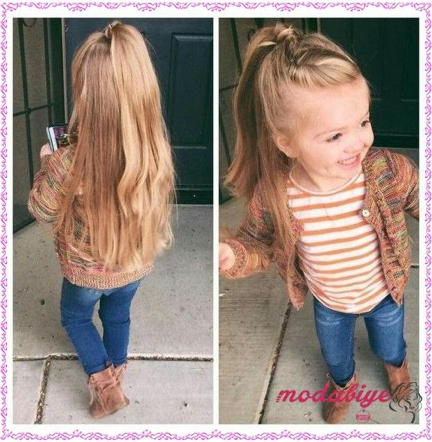 Küçük kız uzun saç modelleri