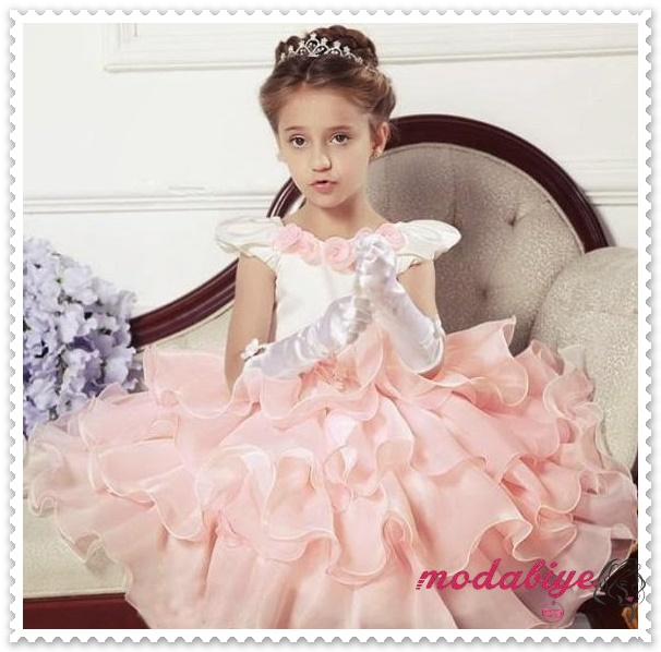 Kız Çocuk Abiye Elbise Pembe Tül Kız Elbise Çocuk Elbise Çocuk Kız Prenses Gelinlik