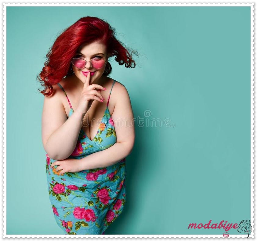 Büyük beden desenli elbise modelleri kilolu şişman kadılar nasıl giyinmeli