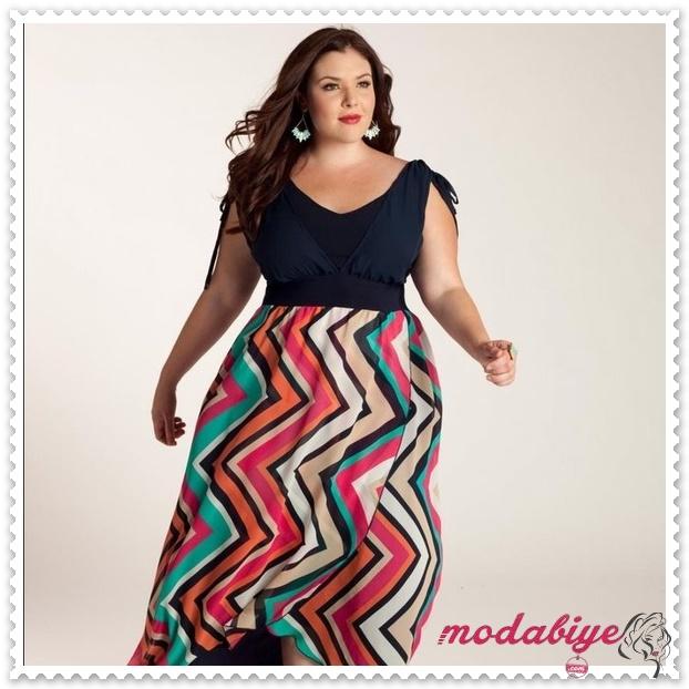 Kilolu bayanlar için büyük beden desenli etek modelleri kilolu şişman kadılar nasıl giyinmeli