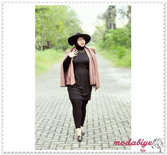 Kilolu tesettürlü kadınlar için siyah elbise modelleri kilolu şişman kadılar nasıl giyinmeli