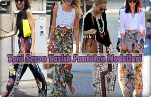 Yeni Sezon Yazlık Pantolon Modelleri